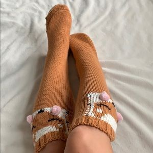 Fox slipper socks